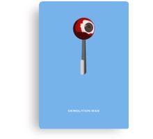 Demolition Man - Minimal Poster Canvas Print
