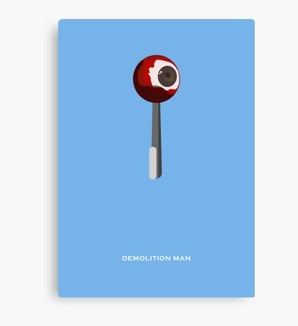 Demolition Man - Minimal Poster Canvas Print