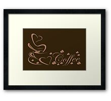 For the Love of Coffee Caffeine Addict Framed Print
