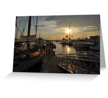 Sunset in New England Greeting Card