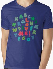 Love Me! alphabet tee Mens V-Neck T-Shirt