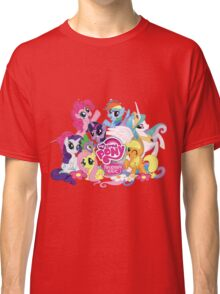 My Little Pony Mane6 and Logo Classic T-Shirt