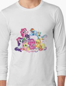 My Little Pony Mane6 and Logo Long Sleeve T-Shirt