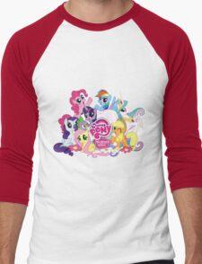 My Little Pony Mane6 and Logo Men's Baseball ¾ T-Shirt