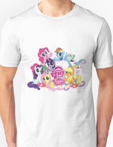 My Little Pony Mane6 and Logo Unisex T-Shirt
