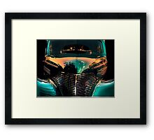 """ Resolution to Blue "" Framed Print"