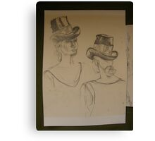 SKETCHES 1 ~ london fashionista's  Canvas Print