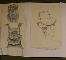SKETCHES 2 london fashionista's ~ matching backpack & hat's by Tuartkatz