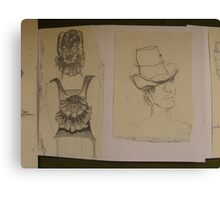SKETCHES 2 london fashionista's ~ matching backpack & hat's Canvas Print