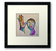 American Sign Language FATHER Framed Print