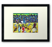 The Zombies Parade Framed Print