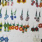 Earings made by Huichol - Aretes hecho por Huichol by PtoVallartaMex