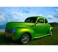 1940 Ford Custom Coupe Hot Rod Photographic Print