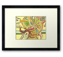bird brain Framed Print