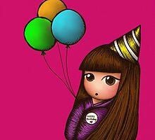 Happy Birhday! Kokeshi Doll by craftofboredom