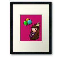Happy Birhday! Kokeshi Doll Framed Print