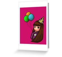 Happy Birhday! Kokeshi Doll Greeting Card