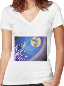 JACK FROST Women's Fitted V-Neck T-Shirt