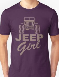 Jeep Girl Brown Unisex T-Shirt