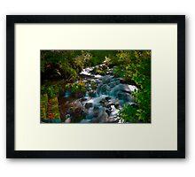 Bubbling Stream Framed Print