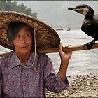 Cormorant Fishing on the Li River by Karl Willson