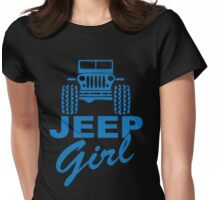 Jeep Girl Blue Womens Fitted T-Shirt