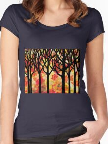 Fall Forest Women's Fitted Scoop T-Shirt
