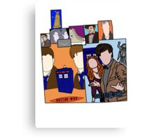 Doctor who collage  Canvas Print