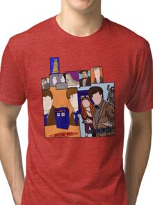 Doctor who collage  Tri-blend T-Shirt