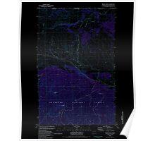 USGS Topo Map Washington State WA Mount Hull 242498 1981 24000 Inverted Poster
