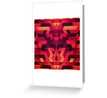 Abstract  geometric triangle texture pattern design in diabolic future red Greeting Card