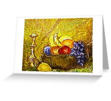 FRUIT AND CANDLE STILL LIFE Greeting Card