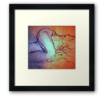NUDE FIGURE DRAWING 17 Framed Print