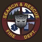 Ratchet Search And Rescue Medium Logo by Christopher Bunye