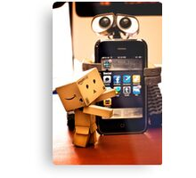 Danbo gets help from Wall•E using my phone Metal Print