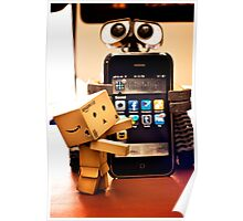 Danbo gets help from Wall•E using my phone Poster