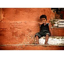Red Wall Photographic Print