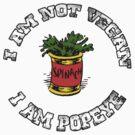 I Am not Vegan by Alternative Art Steve