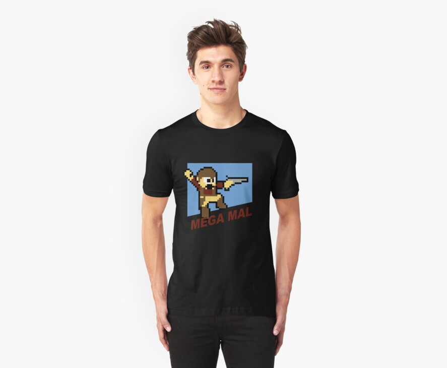 (MegaMan Firefly) Mega Mal Reynolds Shirt 8-bit by IG-HateyHate