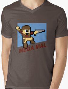 (MegaMan Firefly) Mega Mal Reynolds Shirt 8-bit Mens V-Neck T-Shirt