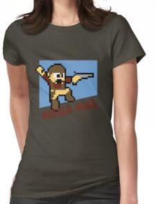 (MegaMan Firefly) Mega Mal Reynolds Shirt 8-bit Womens Fitted T-Shirt