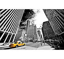 Falling Lines - Rockefeller Center Photographic Print