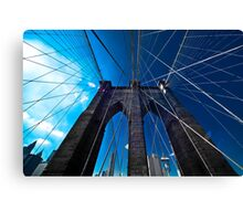 Falling Lines - Brooklyn Bridge Canvas Print