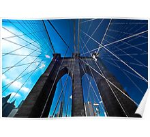 Falling Lines - Brooklyn Bridge Poster