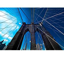 Falling Lines - Brooklyn Bridge Photographic Print