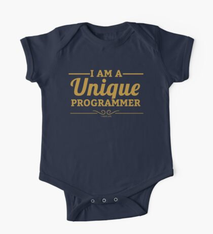 programmer : i am a unique programmer One Piece - Short Sleeve