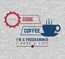 programmer : coffee and code Kids Tee