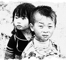 Hmong Children, Sapa, Vietnam by Karl Willson