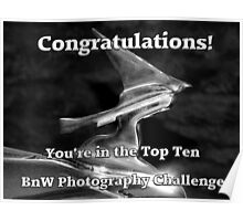 Challenge Top Ten Banner - BnW Photography Poster