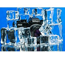Nikon on Ice Photographic Print